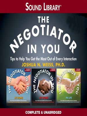 Click this cover for a(n) Audiobook sample of The Negotiator in You