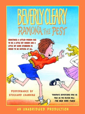 Click this cover for a(n) Audiobook sample of Ramona the Pest.