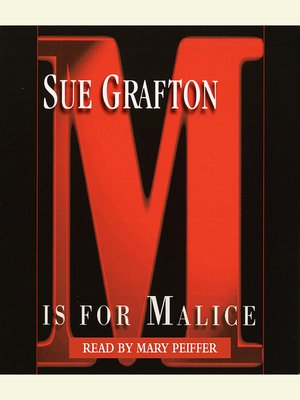 "Click this cover for a(n) Audiobook sample of ""M"" is for Malice."