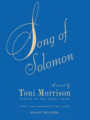 Click this cover for a(n) Audiobook sample of Song of Solomon