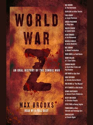 Click this cover for a(n) Audiobook sample of World War Z.
