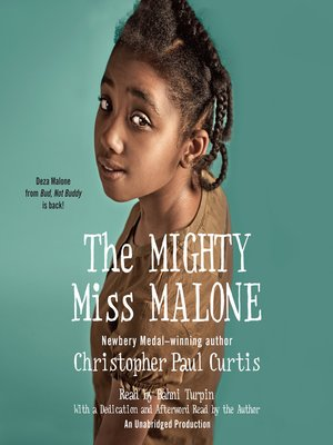 Click this cover for a(n) Audiobook sample of The Mighty Miss Malone.