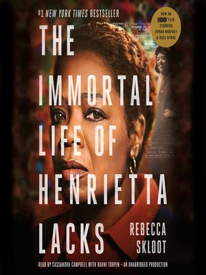 Click this cover for a(n) Audiobook sample of The Immortal Life of Henrietta Lacks.