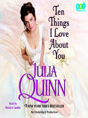 Click this cover for a(n) Audiobook sample of Ten Things I Love About You.