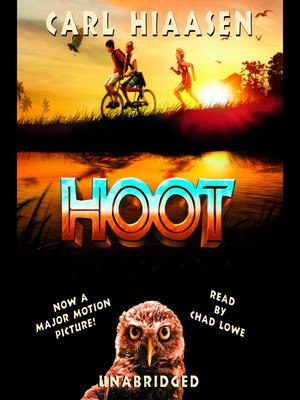 Click this cover for a(n) Audiobook sample of Hoot.