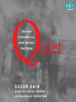 Click this cover for a(n) Audiobook sample of Quiet.