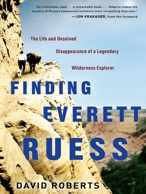 Click this cover for a(n) Audiobook sample of Finding Everett Ruess.
