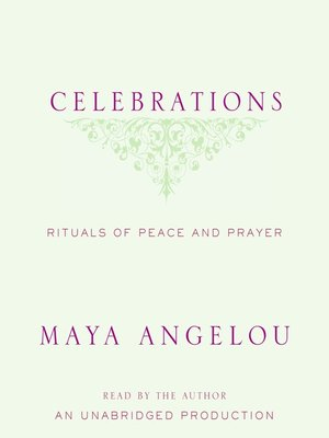 Click this cover for a(n) Audiobook sample of Celebrations.