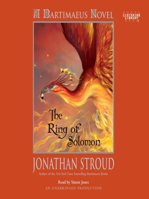 Click this cover for a(n) Audiobook sample of The Ring of Solomon.