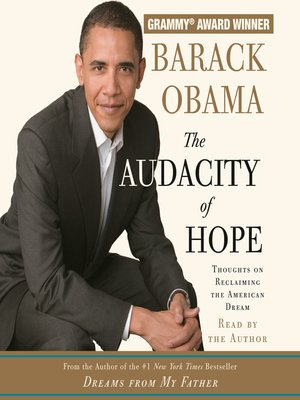 Click this cover for a(n) Audiobook sample of The Audacity of Hope