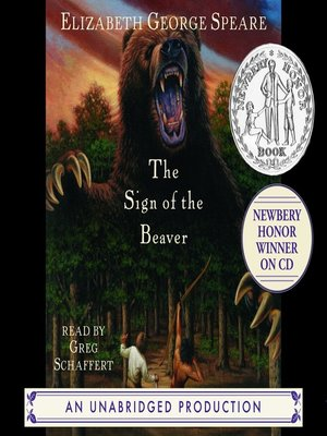 Click this cover for a(n) Audiobook sample of The Sign of the Beaver.