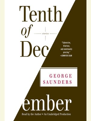 Click this cover for a(n) Audiobook sample of Tenth of December