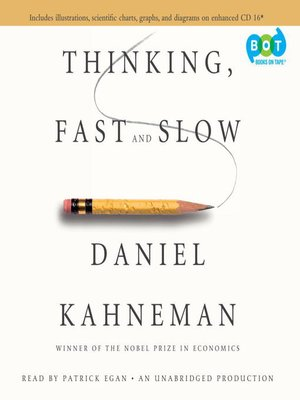 Click this cover for a(n) Audiobook sample of Thinking, Fast and Slow.