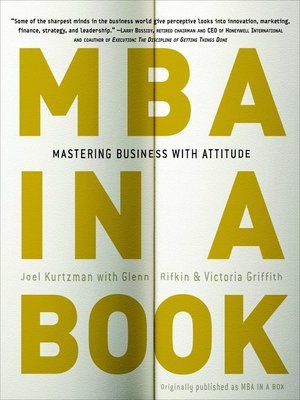 Click this cover for a(n) Audiobook sample of MBA in a Book.