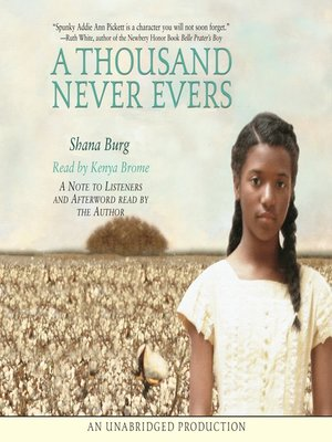Click this cover for a(n) Audiobook sample of A Thousand Never Evers.