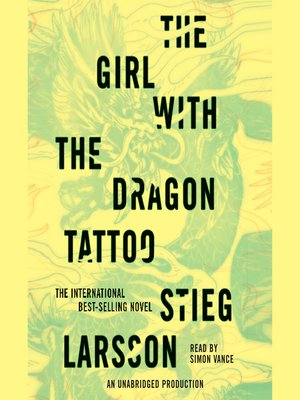 Click this cover for a(n) Audiobook sample of The Girl with the Dragon Tattoo.