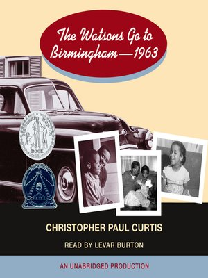 Click this cover for a(n) Audiobook sample of The Watsons Go to Birmingham--1963.