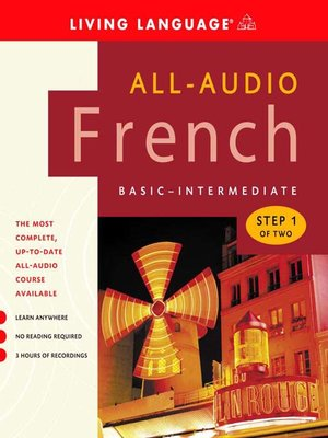 Click this cover for a(n) Audiobook sample of All-Audio French Step 1.