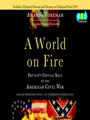 Click this cover for a(n) Audiobook sample of A World on Fire.