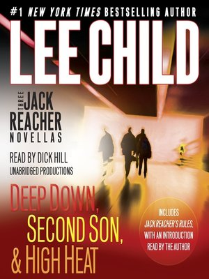 Click this cover for a(n) Audiobook sample of 3 Jack Reacher Novellas (with bonus Jack Reacher's Rules).