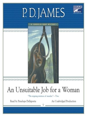 Click this cover for a(n) Audiobook sample of An Unsuitable Job for a Woman.