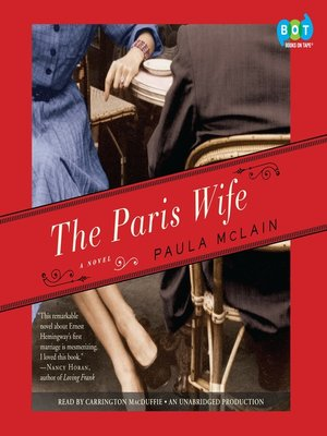 Click this cover for a(n) Audiobook sample of The Paris Wife