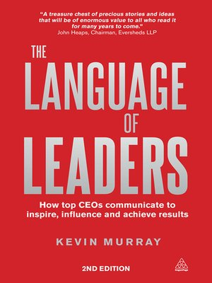 Click this cover for a(n) eBook sample of The Language of Leaders