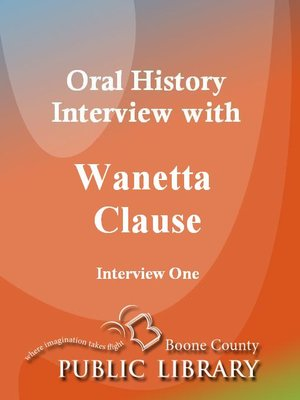 Cover of Oral History Interview with Wanetta Clause