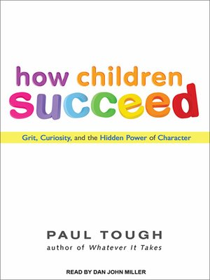 Click this cover for a(n) Audiobook sample of How Children Succeed.