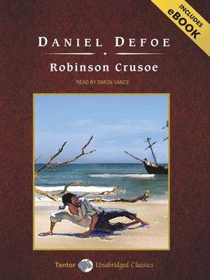 Click this cover for a(n) Audiobook sample of Robinson Crusoe.
