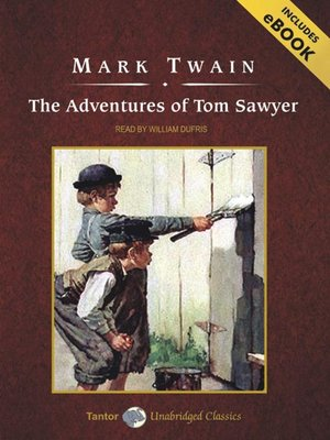 Click this cover for a(n) Audiobook sample of The Adventures of Tom Sawyer.