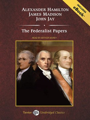 Click this cover for a(n) Audiobook sample of The Federalist Papers.