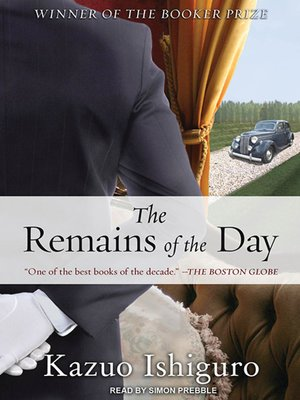Click this cover for a(n) Audiobook sample of The Remains of the Day.