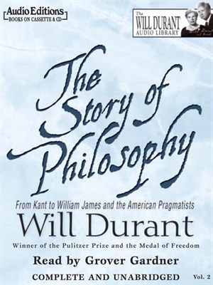Click this cover for a(n) Audiobook sample of The Story of Philosophy