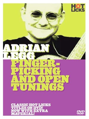 Click this cover for a(n) Video sample of Adrian Legg: Fingerpicking and Open Tunings.