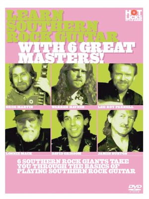 Click this cover for a(n) Video sample of Learn Southern Rock Guitar With 6 Great Masters
