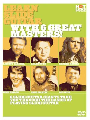 Click this cover for a(n) Video sample of Learn Slide Guitar With 6 Great Masters.