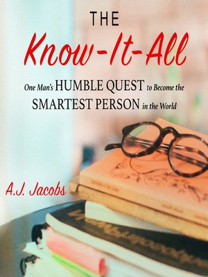 Click this cover for a(n) Audiobook sample of The Know-It-All