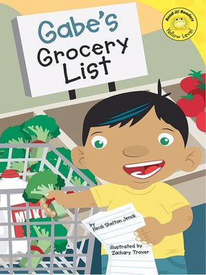 Click this cover for a(n) eBook sample of Gabe's Grocery List.