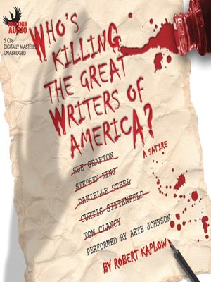 Click this cover for a(n) Audiobook sample of Who's Killing the Great Writers of America?