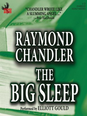 Click this cover for a(n) Audiobook sample of The Big Sleep