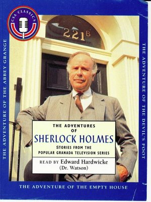 Click this cover for a(n) Audiobook sample of Adventures of Sherlock Holmes, Volume 1.