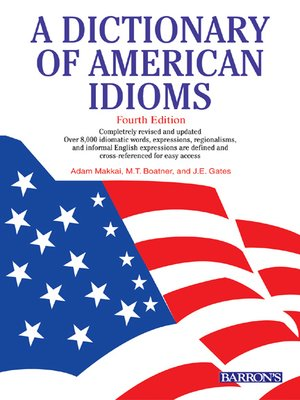 Cover of Dictionary of American Idioms