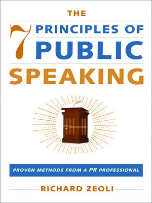 Cover of The 7 Principles Of Public Speaking