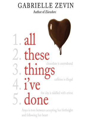 Click this cover for a(n) Audiobook sample of All These Things I've Done.