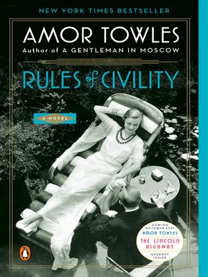 Click this cover for a(n) eBook sample of Rules of Civility.