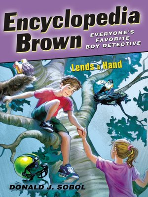 Click this cover for a(n) eBook sample of Encyclopedia Brown Lends a Hand.