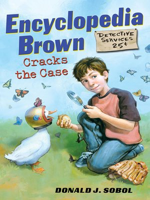 Click this cover for a(n) eBook sample of Encyclopedia Brown Cracks the Case