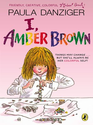 Click this cover for a(n) eBook sample of I, Amber Brown.
