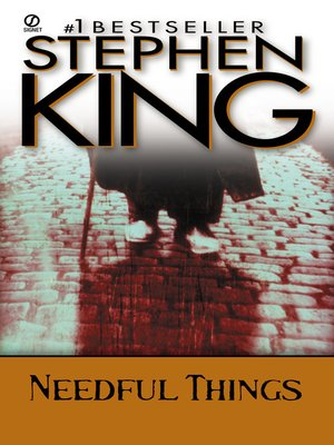 Click this cover for a(n) eBook sample of Needful Things.